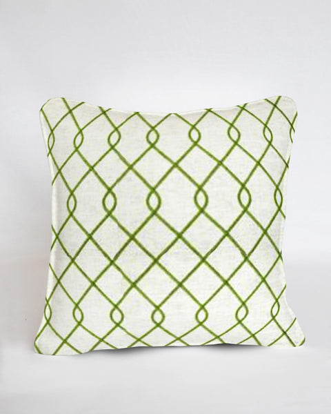 Custom Pillow Cover-Rico Embroidered Green