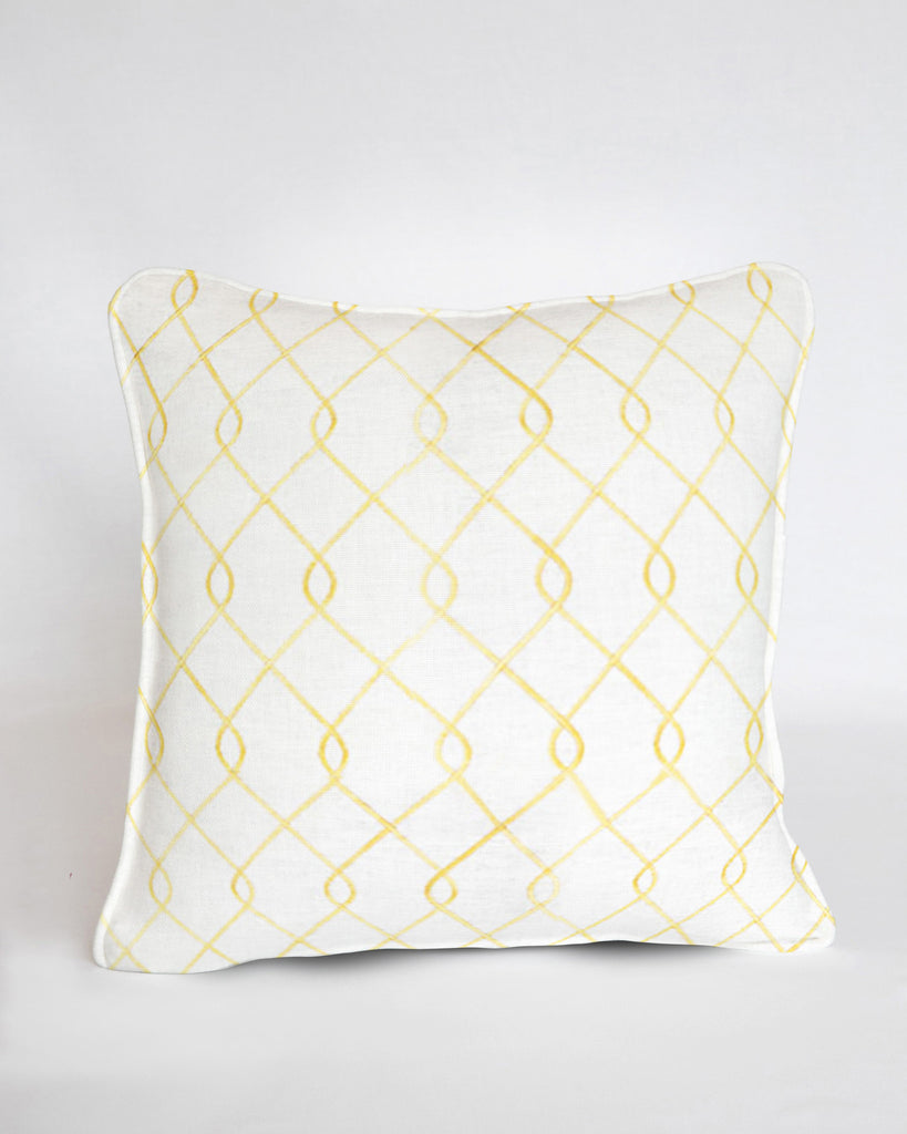 Custom Pillow Cover-Rico Embroidered Yellow