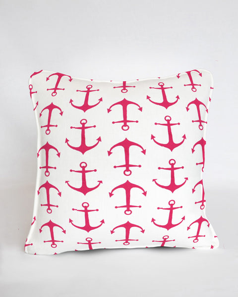 Custom Pillow Pink Anchors Away