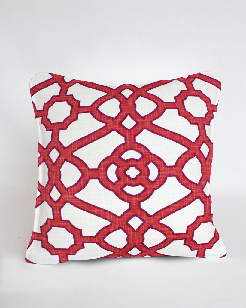 Custom Pillow Cover-Fretwork Papaya