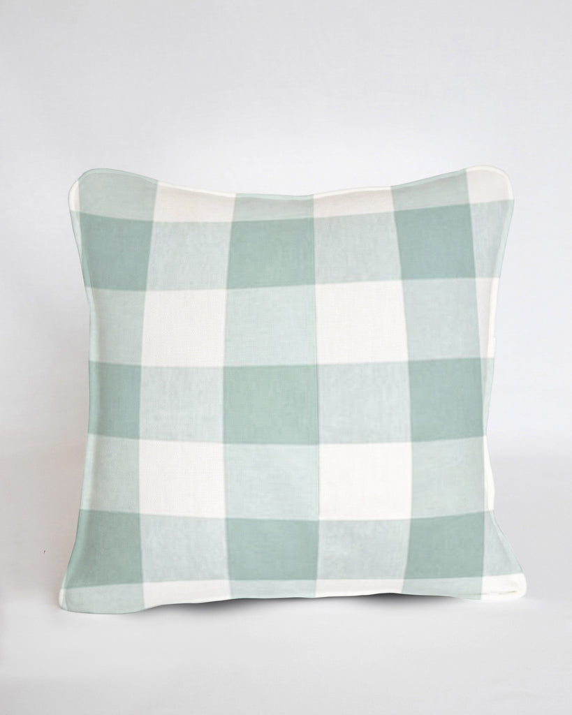 Custom Pillow Cover- Buffalo Check Seabreeze