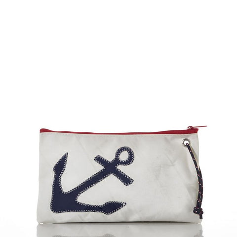 Navy Anchor  Large Wristlet