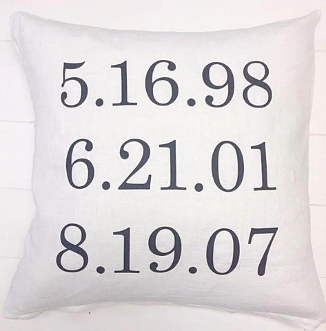 Birthdate Pillow