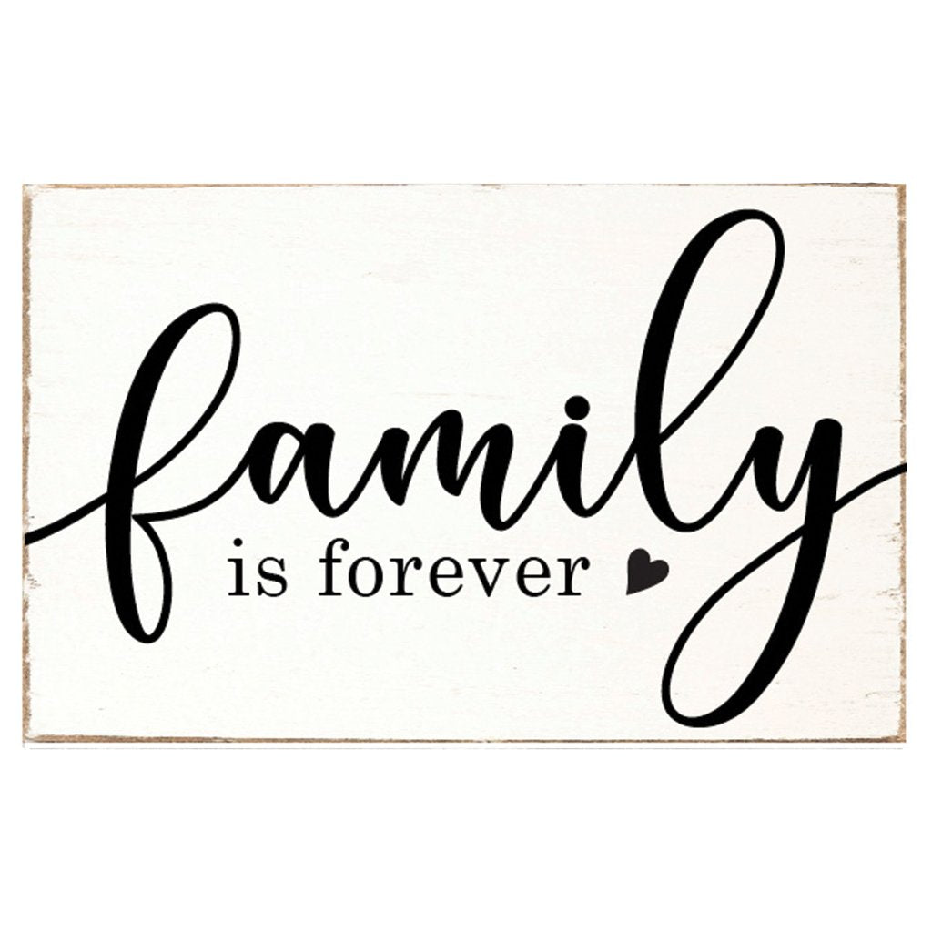 Family is Forever XL Rustic Block