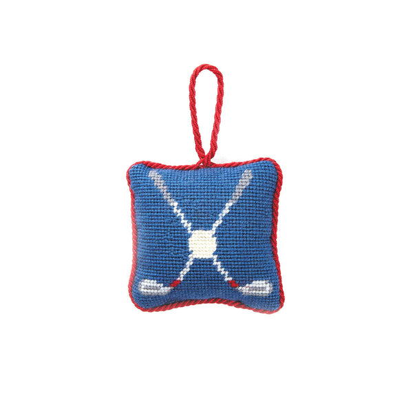 Golf Needlepoint Ornament