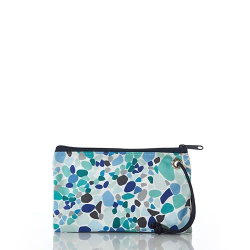 Sea Glass print Small Wristlet
