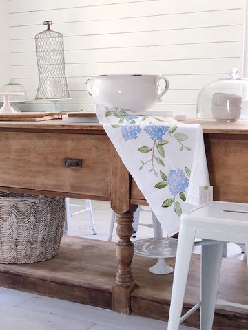 Blooming Hydrangea Table Runner