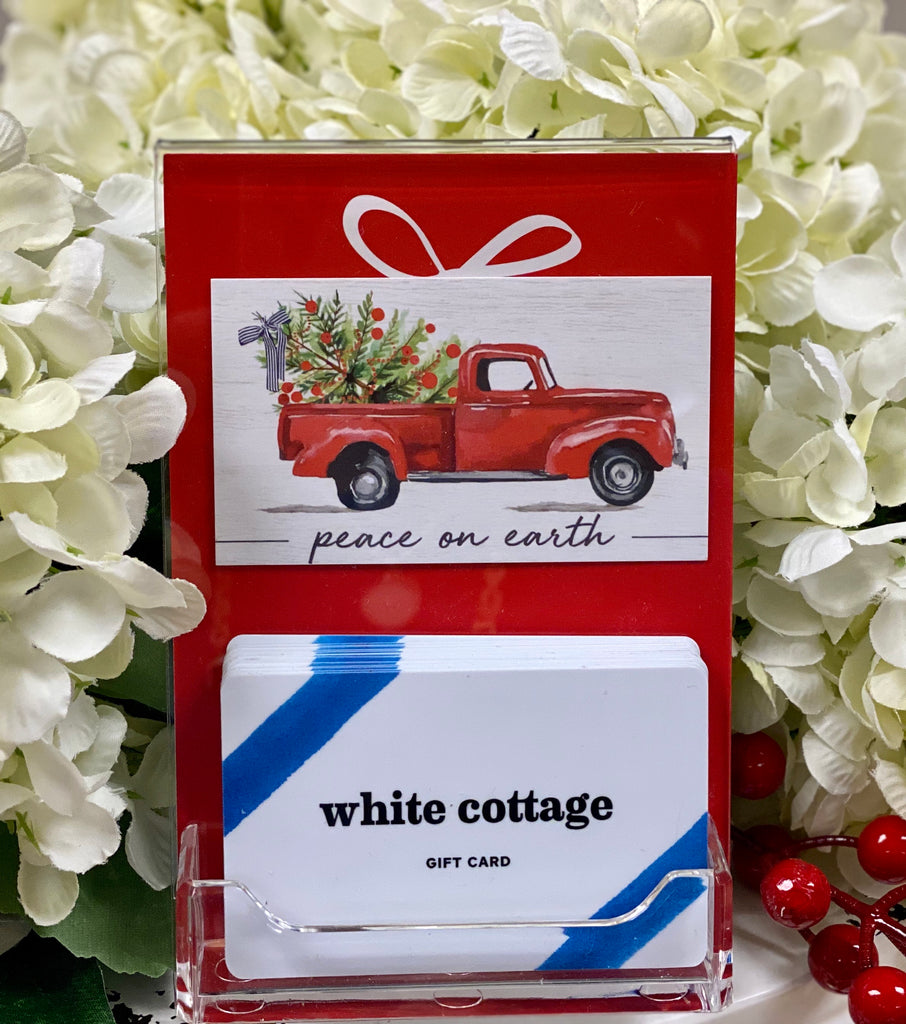 White Cottage Gift Card - Store Card - plastic