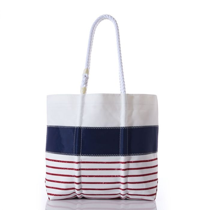 Red Mariner Stripe Tote