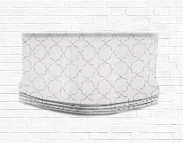 Custom Relaxed Roman Shade Valance- Taner Bone