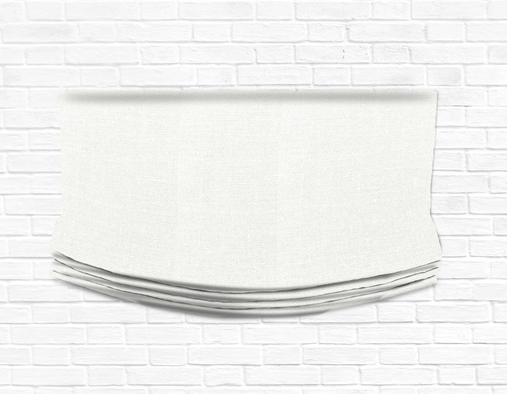 Custom Relaxed Roman Shade Valance- Irish Linen white