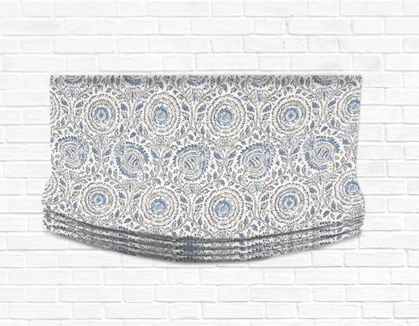 Custom Relaxed Roman Shade Valance- Mist on the Vine
