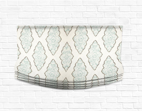Custom Relaxed Roman Shade Valance-Monroe Medallion