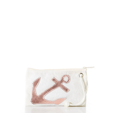 Rose Gold Anchor Small Wristlet