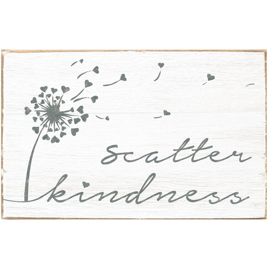 Scatter Kindness XL Rustic Block
