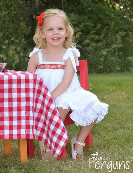 Vintage Cherries in Red- Sizes 12-18 months, 6/7, & 8/10