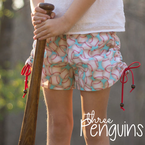 Take Me Out to the Ball Game Shorts in Mint- PRE-ORDER