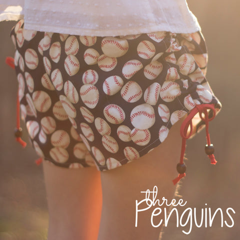 Take Me Out to the Ball Game Shorts in Navy- PRE-ORDER