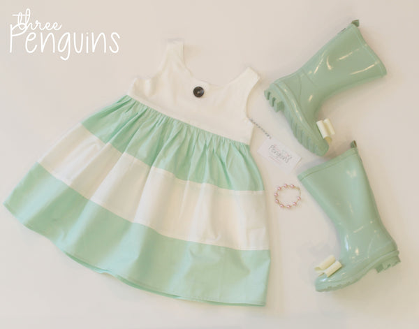 Mollie Dress in Mint- Size 18 months