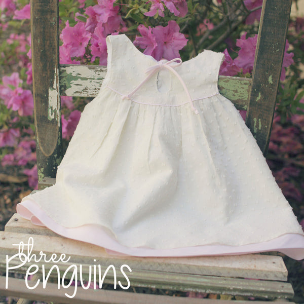 Annabelle Dress with Pink Accents- Size 6-12 months & 12-18 months (Last 2!)