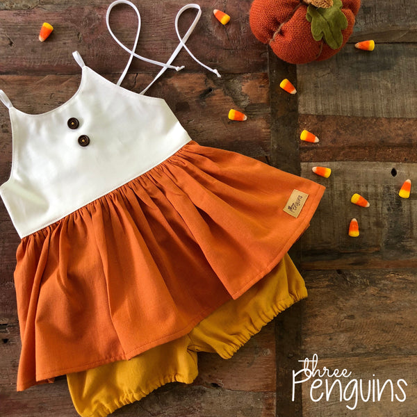 Candy Corn Bloomer Set- Size 2 (Only 1 Available!)