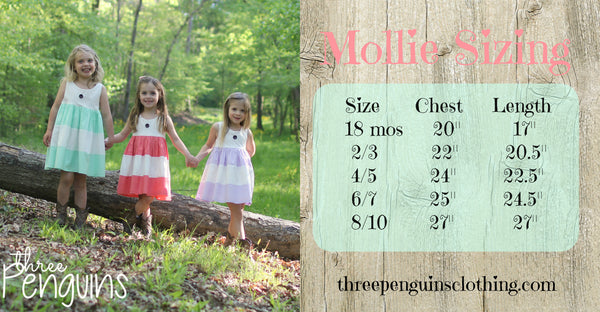 Mollie Dress in Coral- Sizes 18 months & 8/10
