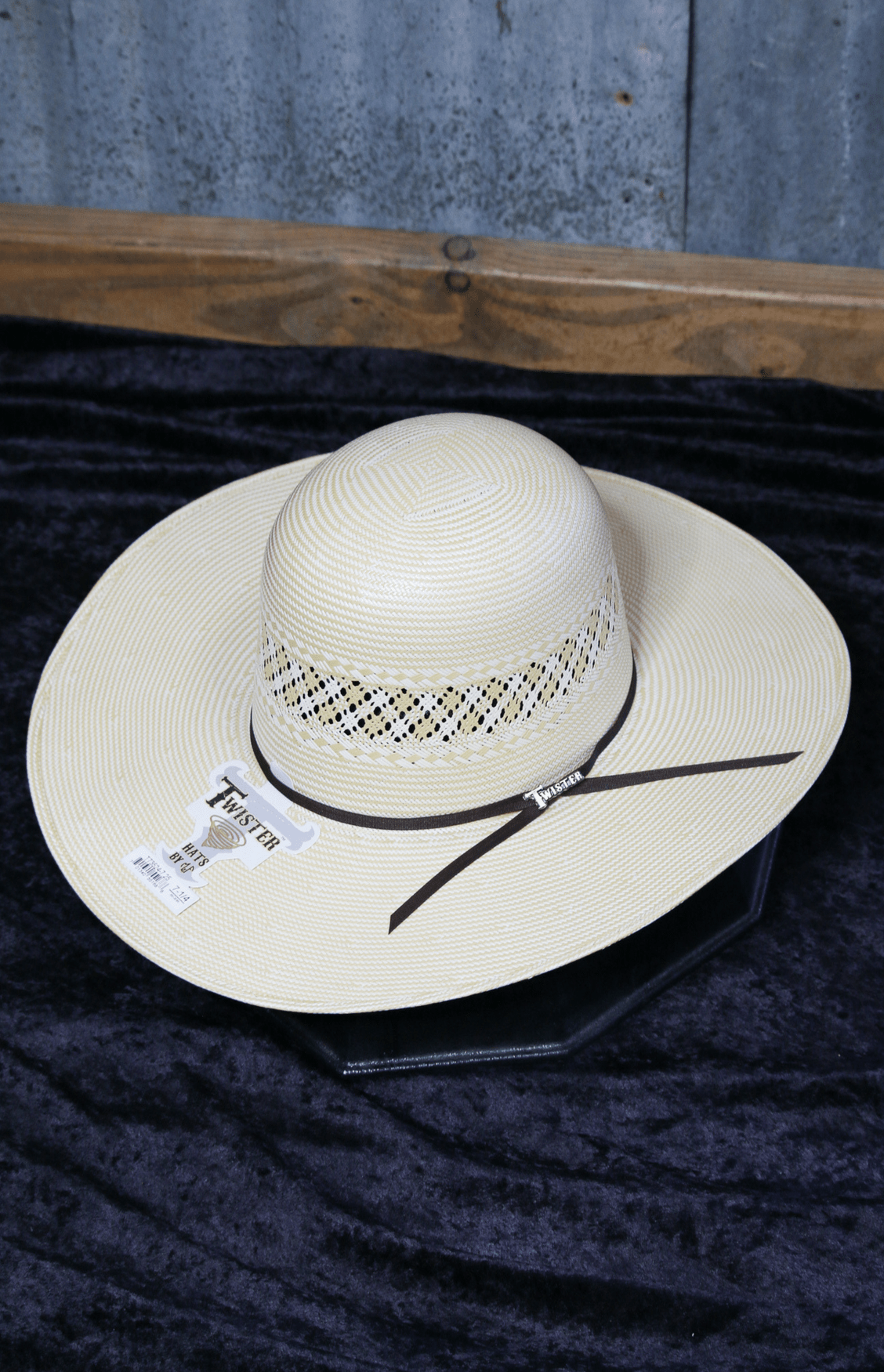 "Twister 20X Tan 41/2""  3672 Brim Straw"