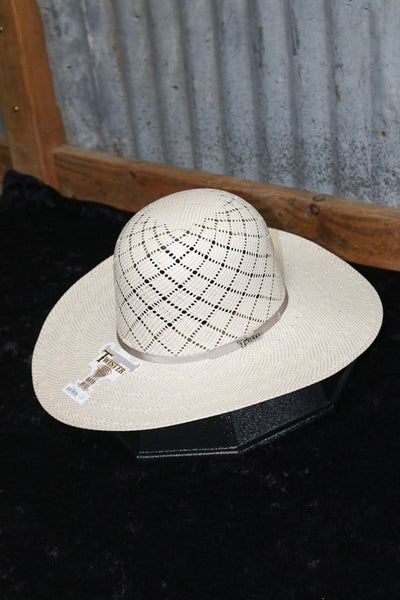 "Twister 10X 41/2"" Brim Patchwork Straw"
