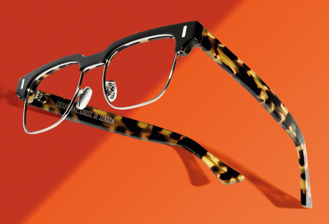Cutler and Gross // 1332 Eyeglasses in Black on Camo