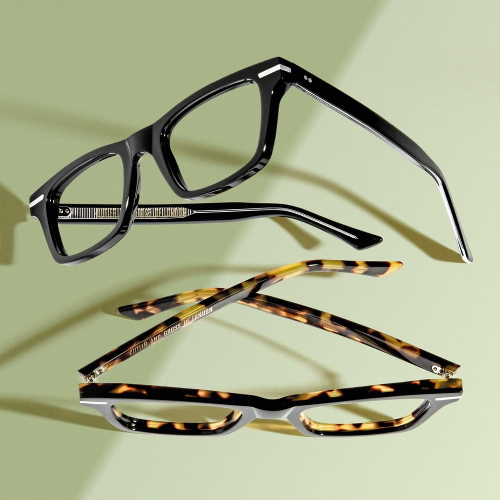 Cutler and Gross // 1337 Eyeglasses in Black and Camouflage
