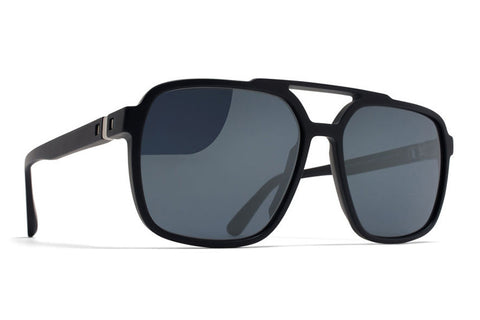 MYKITA Sunglasses | Albany in Matte Dark Blue with Saphire Blue Flash Lenses
