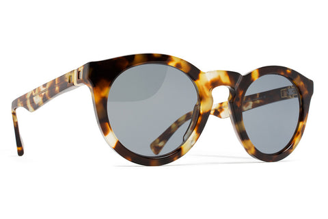 MYKITA Sunglasses | Minetta in Cocoa Sprinkles with Dark Blue Solid Lenses