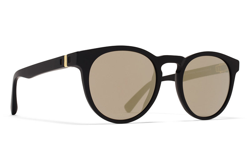 MYKITA Sunglasses | Olive in Matte Black with Brilliant Grey Solid Lenses
