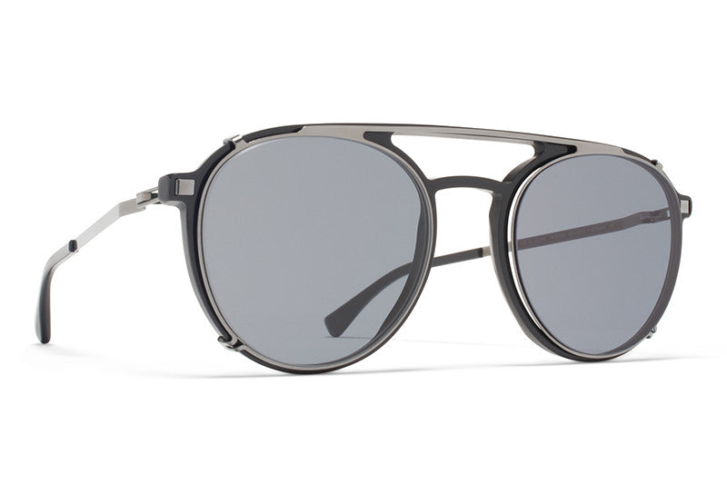 MYKITA  Sunglasses | Miki in Storm Grey with Shiny Graphite Clip On Shades