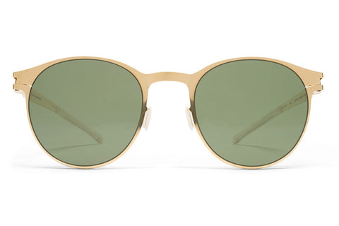 MYKITA Sunglasses | Peyton in Glossy Gold with MY+ Fern Polarized Lenses
