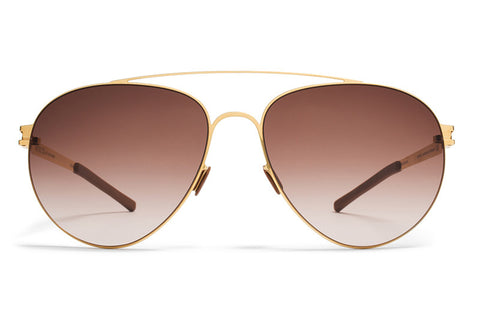 MYKITA | Carter in Glossy Gold with Brown Gradient Lenses