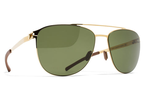 MYKITA | Doug in Glossy Gold with MY+ Fern Polarized Lenses