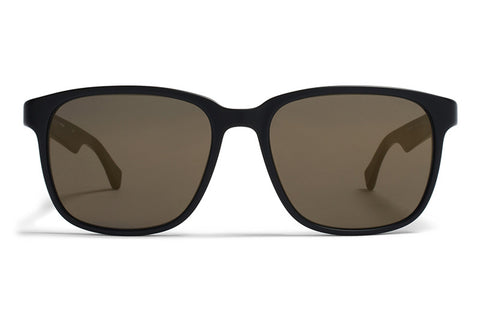 MYKITA Sunglasses | Thompson in Matte Black with Brilliant Grey Solid Lenses