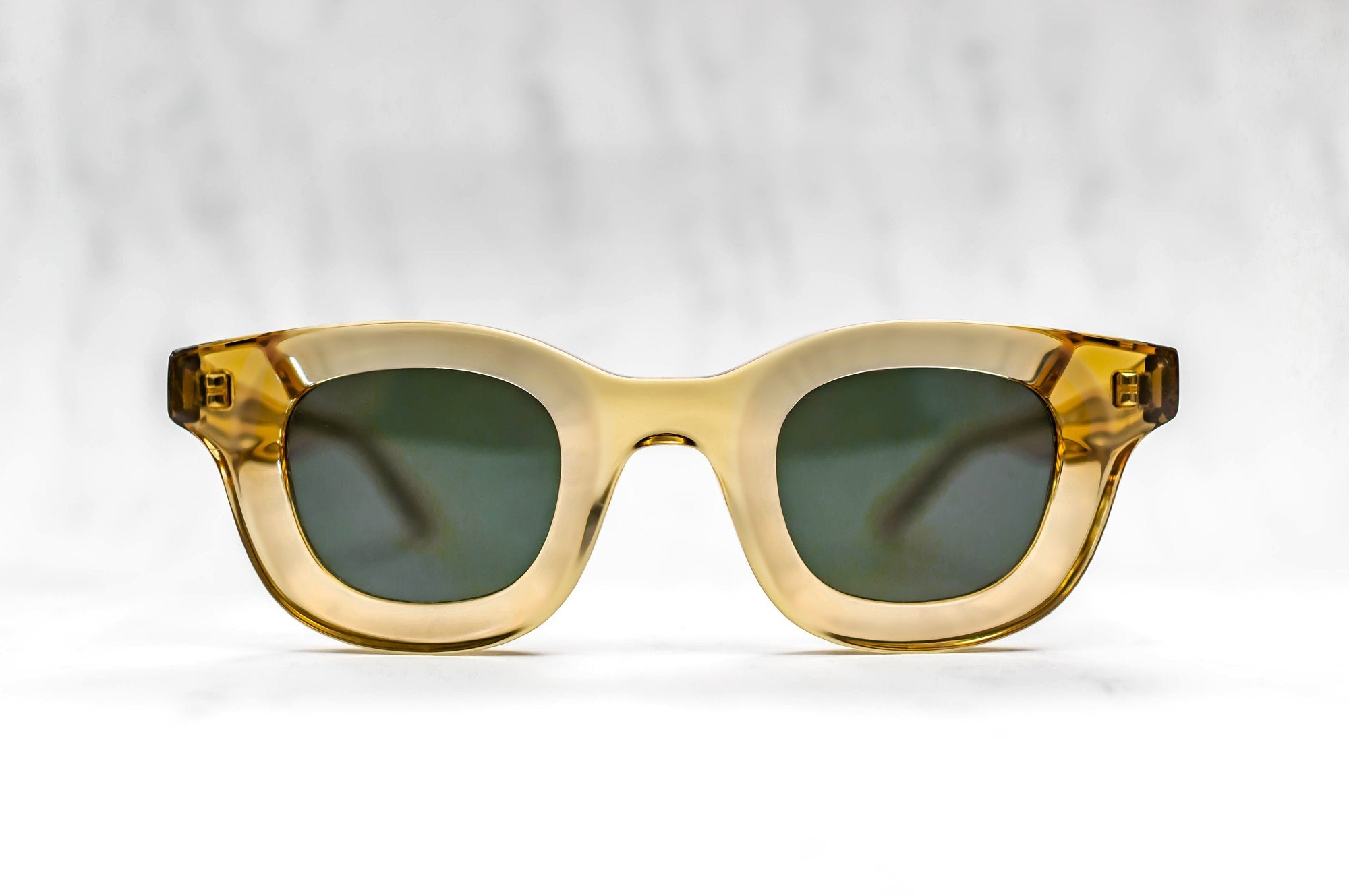 RHUDE x Thierry Lasry - Rhodeo Sunglasses in Transparent Honey w/ Flat Green Lenses (656)