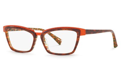 Alain Mikli - A02015 Eyeglasses Orange/Havana Zig Zag Orange