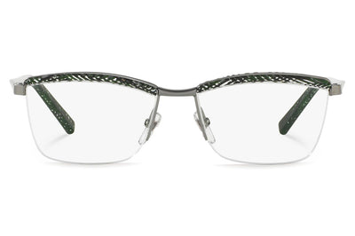 Alain Mikli - A02022 Eyeglasses Chevron Green/Ruthenium
