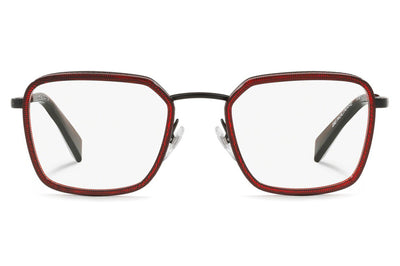 Alain Mikli - Beaucarre (A02028) Eyeglasses Pontille Dark Red/Matte Black