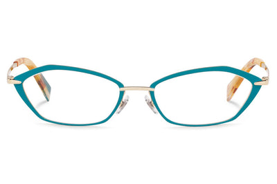 Alain Mikli - A02033 Eyeglasses Light Gold/Matte Teal