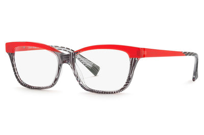 Alain Mikli - A03037 Eyeglasses Black Crystal/Pontille Red