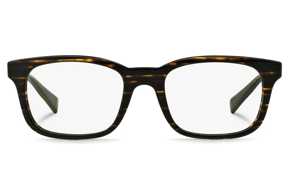 Alain Mikli - A03039 Eyeglasses Striped Brown Black
