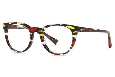 Alain Mikli - A03063 Eyeglasses Red Yellow Stained Glass