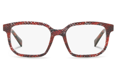 Alain Mikli - A03074 Eyeglasses Chevron Red Black