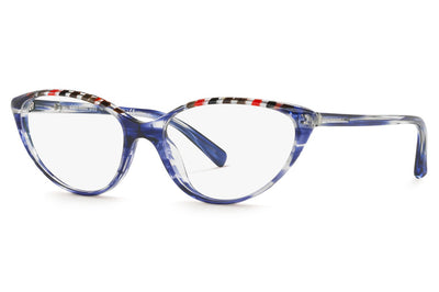 Alain Mikli - A03081 Eyeglasses Damier Red Grey/Paint Blue