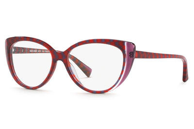 Alain Mikli - A03084 Eyeglasses Purple/Crystal/Red Damier