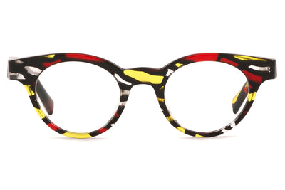 Alain Mikli - A03090 Eyeglasses Red Yellow Stained Glass